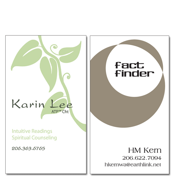 Karin Lee and Heather Kern business cards