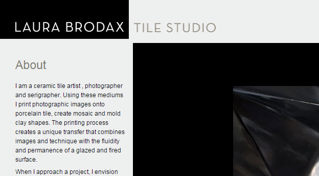 Laura Brodax Tile Studio Website