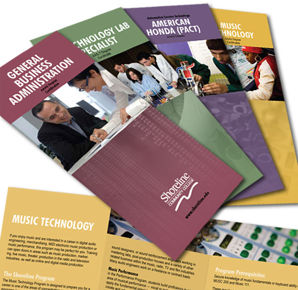 Shoreline Community College Brochures for Professional-Technical Programs